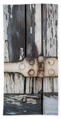 Hand Towel featuring the photograph Hinge On Old Shutters by Elena Elisseeva
