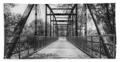 Hinkson Creek Bridge In Black And White Bath Towel