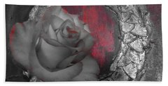 Hints Of Red - Rose Bath Towel