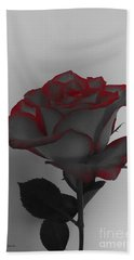 Hints Of Red- Single Rose Hand Towel