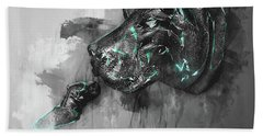 Bath Towel featuring the photograph Hippo Love Monochrome by Jack Torcello