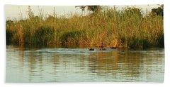 Hippos, South Africa Bath Towel