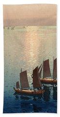 Hiroshi Yoshida, Hikaru Umi, The Sparkling Sea, 1926 Hand Towel