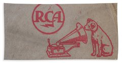 Hand Towel featuring the photograph His Masters Voice Rca by Edward Fielding