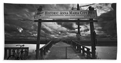Historic Anna Maria City Pier 9177436 Bath Towel