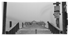 Historic Anna Maria City Pier In Fog Infrared 52 Bath Towel