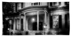 Historic Carriage House In Black And White Bath Towel