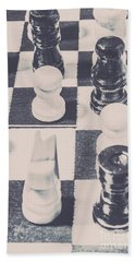 Historic Chess Nostalgia Hand Towel