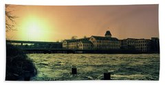 Hand Towel featuring the photograph Historic Fox River Mills by Joel Witmeyer
