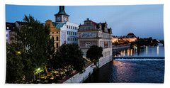 Historic Prague Bath Towel