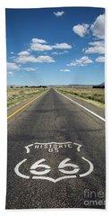 Historica Us Route 66 Arizona Bath Towel