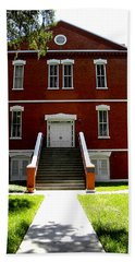 Hand Towel featuring the photograph Historical Landmark Osceola County Court House by Chris Mercer