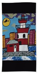 Historical Michigan Lighthouse Hand Towel by Jonathon Hansen