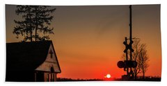 Historical Train Depot In Wayne Illinois Bath Towel