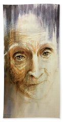 Histories And Memories Of Ancestral Light 3 Hand Towel by J- J- Espinoza