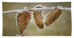 Hoar Frost - Leaves Hand Towel