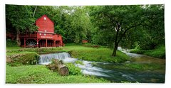 Hand Towel featuring the photograph Hodgson Water Mill And Spring by Cricket Hackmann