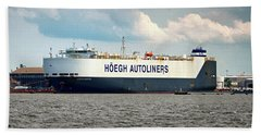 Hand Towel featuring the photograph Hoegh Autoliners Heogh Maputo 9431850 At Curtis Bay by Bill Swartwout Fine Art Photography