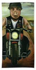Hog Wild Bath Towel by Leah Saulnier The Painting Maniac