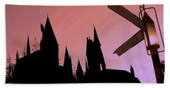 Bath Towel featuring the photograph Hogwarts Castle ... by Juergen Weiss