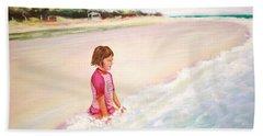 Holding The Ocean Bath Towel by Patricia Piffath