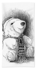 Holiday Bear Hand Towel