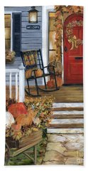 Pumpkin Porch Hand Towel