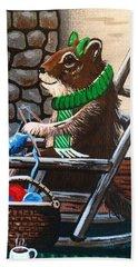 Holiday Knitting Hand Towel
