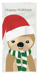 Holiday Sloth- Design By Linda Woods Hand Towel
