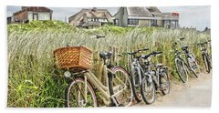 Holland - Bicycles Parked Along The Fence Bath Towel