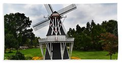Holland Grey Windmill  Hand Towel