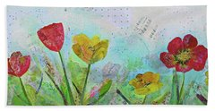 Bath Towel featuring the painting Holland Tulip Festival I by Shadia Derbyshire
