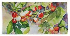 Holly Berries Hand Towel