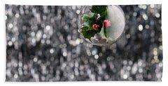 Holly Christmas Bauble  Bath Towel by Ulrich Schade