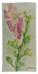 Hollyhock The Harbinger Of Summer Hand Towel