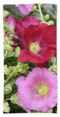 Hollyhocks Hand Towel