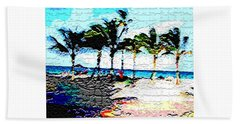Hollywood Beach Fla Digital Bath Towel