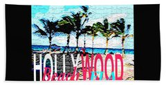 Hollywood Beach Fla Poster Bath Towel