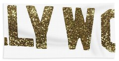 Hollywood Gold Glitter Sign Hand Towel