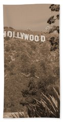 Hollywood Signage Bath Towel