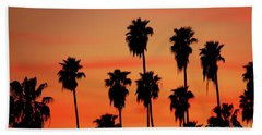Hollywood Sunset Hand Towel by Mariola Bitner