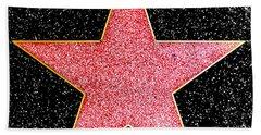 Hollywood Walk Of Fame Star Bath Towel