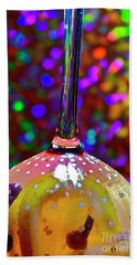 Hand Towel featuring the photograph Holographic Fruit Drop by Xn Tyler