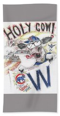Holy Cow  Hand Towel by Scott and Dixie Wiley