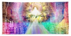 Hand Towel featuring the digital art Holy Holy Holy by Dolores Develde