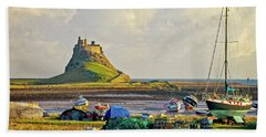 Holy Island And Lindisfarne Castle Hand Towel
