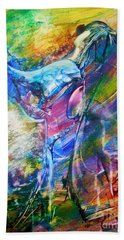 Bath Towel featuring the painting Holy Surrender by Deborah Nell