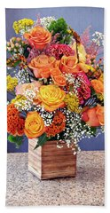 Hand Towel featuring the photograph Holy Week Flowers 2017 by Sarah Loft