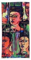 Homage To Frida Kahlo Bath Towel