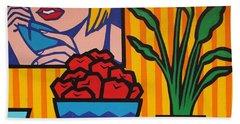 Homage To Lichtenstein And Wesselmann Hand Towel